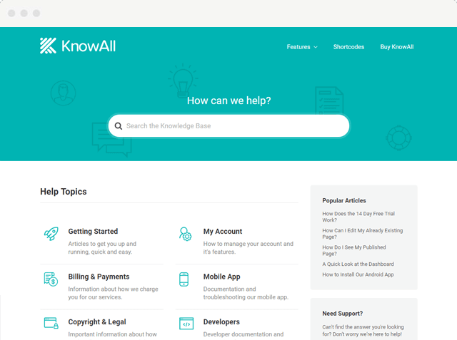 KnowAll Knowledge Base Theme