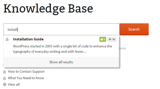 knowledge base search